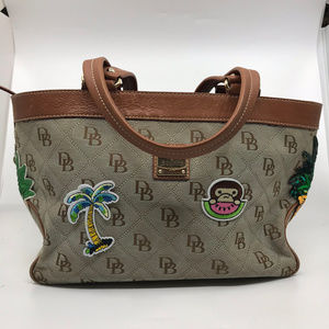 Dooney & Bourke Tan Large Customized Tote Bag